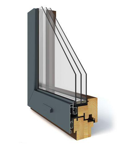 Okno drewniano – aluminiowe DUO