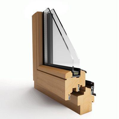 Okno drewniane ECOLINE 68